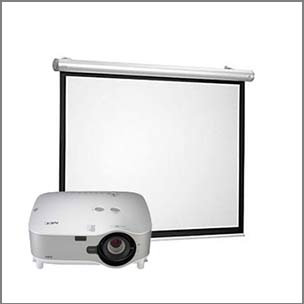 Projectors, Screens & TV's